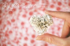 Ruffled book page heat Valentines — or I imagine old magazine pages might work. From theinspiredroom.com