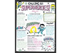 Superheroes! Fill-In Poster Set   Fill-In Poster Sets   Classroom Decorations   Education   Mardel