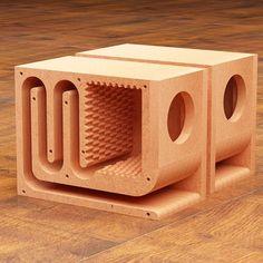 Subwoofer Diy, Subwoofer Box Design, Speaker Box Design, Cheap Speakers, Small Speakers, Hifi Speakers, Diy Bluetooth Speaker, Ipod, Wood Speaker