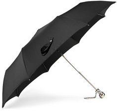 Shop Now - >  https://api.shopstyle.com/action/apiVisitRetailer?id=632409855&pid=uid6996-25233114-59 Alexander McQueen - Embellished Shell Umbrella - Black  ...