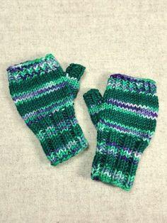 Bio Baumwolle Kabel Knit Handschuhe mit String