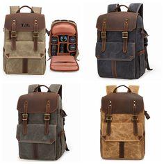Camera Backpack, Leather Rucksack,DSLR Backpack Camera Bag Backpack, Hiking Bag, Toiletry Bag, Bradley Mountain, Briefcase, Backpacks, Collection, Leather, Bags