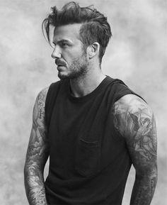 David Beckham Cool Full Sleeve Tattoos For Men