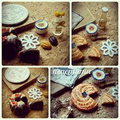 接着していませんのでお好きな様に並べて頂けます(^_^)v * #ミニチュア #ミニチュアフード #フェイクスイーツ #フェイクフード #ハンドメイド #粘土 #ドールハウス #カフェ #男前風 #焼き菓子 #ガレットデロワ #マドレーヌ #クグロフ #クレームブリュレ #お花 #花瓶  #お水#miniature #miniaturefood #handmade #clay #dollhouse #sweets #cake