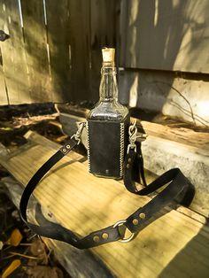 Awesome leather bottle holder