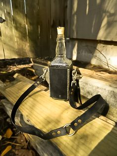 Awesome leather bottle holder
