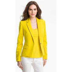 Anne Klein One Button Blazer ($84) ❤ liked on Polyvore