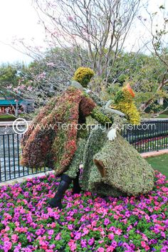 Princess Aurora Topiary During the International Flower and Garden Festival in Epcot at Walt Disney World - #SleepingBeauty
