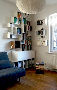 Modular Cubit shelving/storage components, from the Cubit Galerie clients (so many ideas in this gallery!)