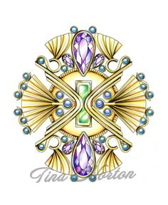 Deco Jeweldala 4  Digital Download Coloring Page by ModernColoring