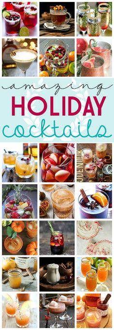 31 Amazing Holiday Cocktails Recipe Ideas on Frugal Coupon Living - great for Thanksgiving Drinks or Christmas Drink Ideas.