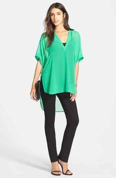 Trouvé Tunic Top, Chelsea28 Top & Paige Denim Jeans