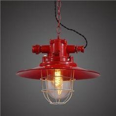 Red Finish 13'' Wide Saucer Shade One Light Barn Pendant Lighting