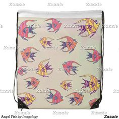 Enjoy a new drawstring bag from Zazzle. Use it to hold your gym gear or carry snacks & water for a hike. Angel Fish, Gym Gear, Drawstring Backpack, Backpacks, Cute, Bags, Handbags, Drawstring Backpack Tutorial, Kawaii