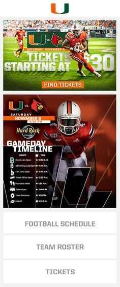 Miami Football, Football Ticket, Marketing Automation, Hard Rock, Hard Rock Music