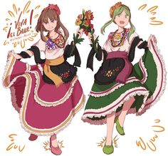 Mexican dressed-themed Satono and Mai. Thank you all so much for the 50+ followers y'all the best!