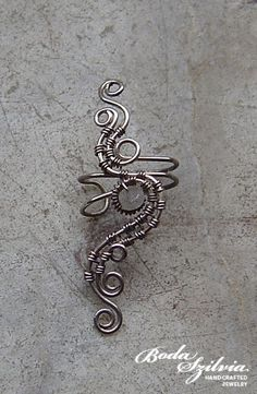 No Beads Wire-wrapped ear cuff