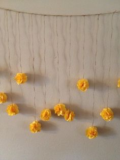 Mustard Yellow Tissue Paper Flower Wedding by giddy4paisley, $30.00