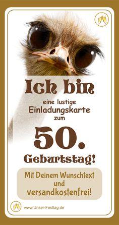 Geburtstagseinladung f/ür 50 Jahre mit Foto lustig und originell M/änner Frauen Menge 20 eigener Text wird eingedruckt Gr/ö/ße DIN A6