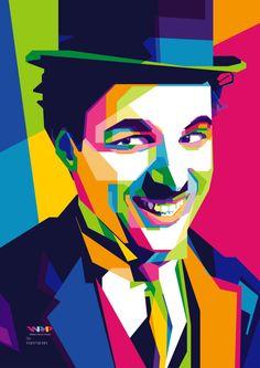 Charlie Chaplin in WPAP by indraharfani.deviantart.com on @DeviantArt