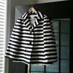 Nwt Kate Spade Landon Jacket Nwt Kate Spade Blazer.  Non-fitted. 3/4 sleeved length.  Lined.  Adorable jacket!  Made of 89% cotton and 11% silk.  Lining 100% polyester.  Bound to impress! kate spade Jackets & Coats Blazers