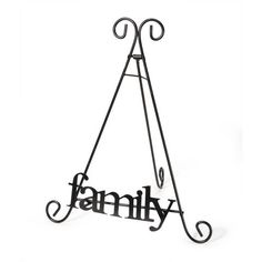 9.5 Easel Display Stand Wire with Family Front by TrishasDandelion, $15.00