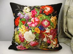 Elegant square velvet pillow cushion cover floral  pattern double sides sofa pillow/car pillow/bed pillow