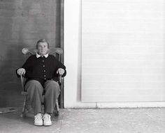 Photograph of Agnes Martin by Charles R. Rushton.