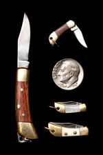 A variety of miniature knives made by Maserin in Maniago, Italy, are featured at Cutlery of Santa Fe.