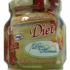 Receita de Leite Condensado Caseiro Diet - 1/2 xícara (chá) de adoçante para forno e fogão, 2 colheres (chá) de margarina light, 1 1/2 xícaras (chá) de Água...