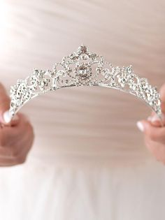 Crown Is Beautiful Wedding Dresses In Bridal Tiara - The Lizbeth Rhinestone Tiara Sweet Heart Details Tania Gp Accesorios What Others Are Saying Gold Rhinestone Wedding Tiara Royal Bridal Crown Gold Etsy See More Rose Gold Bridal Tiar Bridal Crown, Bridal Tiara, Bridal Headpieces, Wedding Jewelry, Wedding Tiaras, Wedding Veils, Wedding Garters, Tiara For Wedding, Wedding Crowns