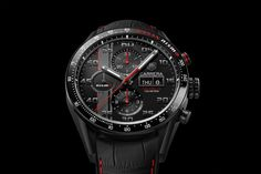 Introducing the TAG Heuer Carrera NISMO Calibre 16 Day-Date Chronograph Special Edition (specs & price) - Monochrome-Watches Tag Heuer, Carrera Watch, Automobile, Monochrome Watches, Modern Luxury, Automatic Watch, Omega Watch, Nissan, Watches For Men
