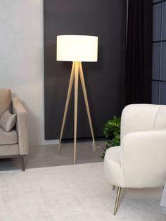 Diy Floor Lamp, Brass Floor Lamp, Modern Floor Lamps, Modern Lighting, Table Lamps For Bedroom, Room Lamp, Lamps For Living Room, Free Standing Lamps, Lamp Design