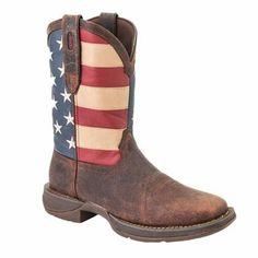 Rebel by Durango Men's Steel Toe American Flag Western Work Boots