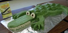 """Wow! I love this """"Enormous Crocodile"""" cake designed by a PTA classroom volunteer at Robert E. Clow Elementary School!"""