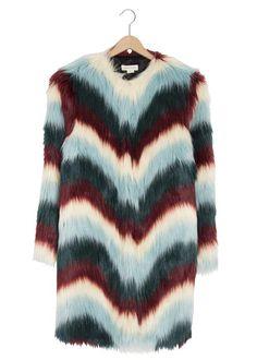 Colourfull fur coat. Coat Trends Fall 2016
