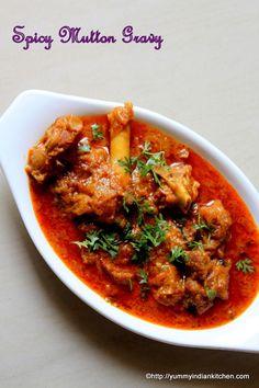 Mutton Gravy Recipe Spicy - Yummy Indian Kitchen