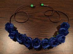 Mini+Blue+Rose+Flower+Headband+Flower+Crown+by+BrittsBlossoms,+$15.00