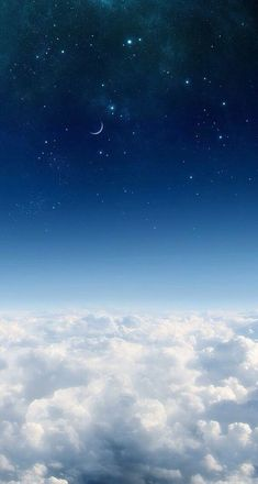 Iphone Wallpaper Sky, Night Sky Wallpaper, Cloud Wallpaper, Scenery Wallpaper, Screen Wallpaper, Aesthetic Iphone Wallpaper, Nature Wallpaper, Wallpaper Backgrounds, Blue Wallpapers