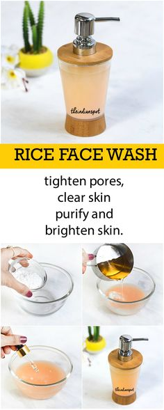 HOMEMADE RICE FACE WASH FOR CLEAR AND BRIGHT SKIN
