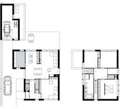 plattegrond - ontwerp - design - archetype house - brick - baksteen - woonhuis - ontwerp - Gernot Kissel - vide - modern