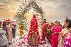 Bride & Groom Goa Beach Wedding #beachwedding #goa #bride #groom #daywedding #fridaypic