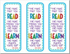 Dr. Seuss quote bookmarks