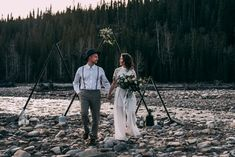 Look at this killer jumpsuit! Brianna completely rocked it. Would you ever consider wearing a jumpsuit on your wedding day? I wish I could pull something like this off! Crown Photos, Planner Decorating, Rose Photography, Banff, On Your Wedding Day, That Look, Social Media, In This Moment