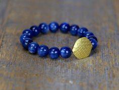 kyanite bracelet solid 18 karat gold finest kyanite bracelet