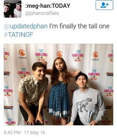 Poor tall Dan having to crouch down so low. Even when pretending to be short he looks so tall.