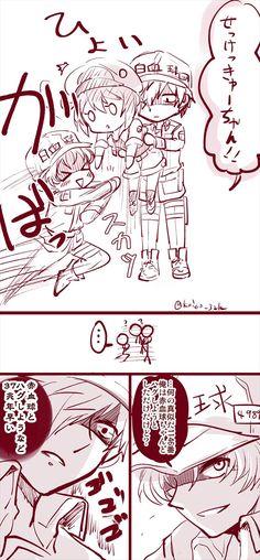 Blood Anime, Kamigami No Asobi, Dragon Ball Image, Harry Potter Drawings, Cute Baby Cats, Happy Tree Friends, Cute Comics, Anime Kawaii, Haikyuu Anime