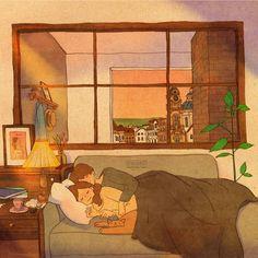 Love Cartoon Couple, Cute Love Cartoons, Anime Love Couple, Cute Anime Couples, Cute Couple Drawings, Cute Couple Art, Cute Drawings, Couple Illustration, Illustration Art