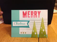 Stampin' Up! demonstrator Shelly F's project showing a fun alternate use for the Watercolor Winter Simply Created Card Kit.