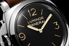 "Panerai Luminor 1950 Left-Handed Destro 3 Days 47 mm (PAM 557) - Inscription ""Luminor Panerai"" engraved on the dial in period characters"
